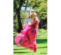 """Платье ручной работы """"Внутренний рай"""" из Коллекции """"Семь цветов любви"""". Мастер Сасина Татьяна."""