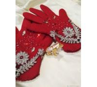 Валяные перчатки ручной работы